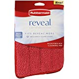 Rubbermaid - Reveal Mop Microfiber Cleaning Pad, 15-Inch, Red, 6 Pack