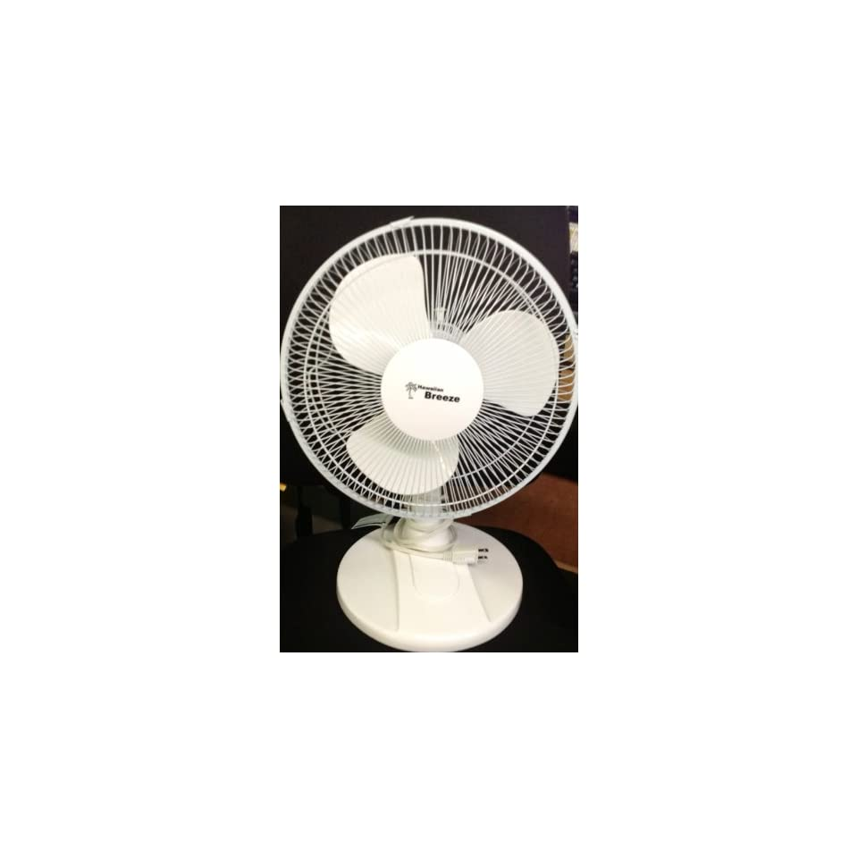 Hawaiian Breeze 12 Oscillating Table Fan
