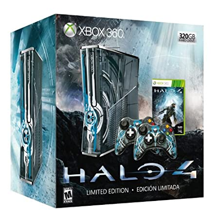 Xbox 360 - Consola 320 Gb + Halo 4 + 2 Mandos- Edición Limitada