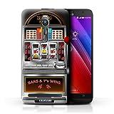 STUFF4 Phone Case Cover for Asus Zenfone 2 ZE550ML Machine Design Slot Machine Collection