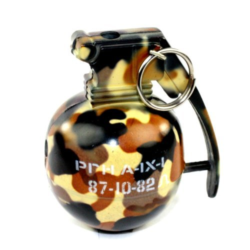 New Mini Camo Hand Grenade Candle Flame Refillable Butane Cigarette Lighter