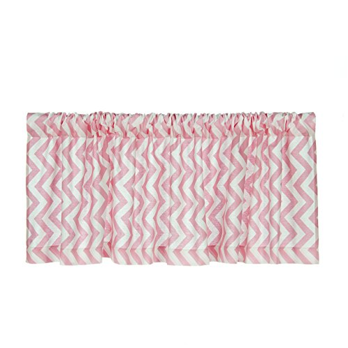 Sweet Potato Swizzle Window Valance, Pink/White