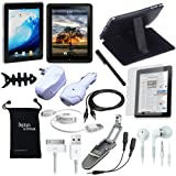 DigitalsOnDemand 15-Item Accessory Bundle for Apple iPad 1st Gen 3G Tablet / Wifi model 16GB, 32GB, 64GB (1st Generation – Old Version)