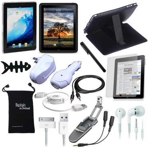 DigitalsOnDemand 15-Item Accessory Bundle for Apple iPad 1st Gen 3G Tablet / Wifi model 16GB, 32GB, 64GB (1st Generation - Old Version)