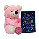 Pink Cute Teddy N Greeting Card Gift for Valentine GIFTS110152 Romantic Valentine Gift,Valentine Gift for Him,Valentine Gift for Her,Valentine Gift for Boyfriend,Valentine Gift for Girlfriend,Valentine Gift for Husband,Valentine Gift for Wife
