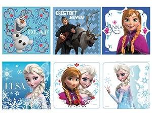 "Amazon.com: Disney's Frozen Stickers 2.5x2.5"" 100 count: Toys & Games"