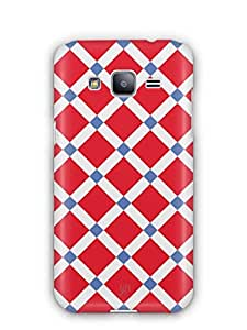 YuBingo Red Square Pattern Mobile Case Back Cover for Samsung Galaxy J2