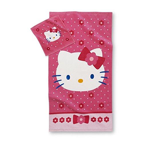 hello kitty towel and hand towel sets my kawaii home. Black Bedroom Furniture Sets. Home Design Ideas