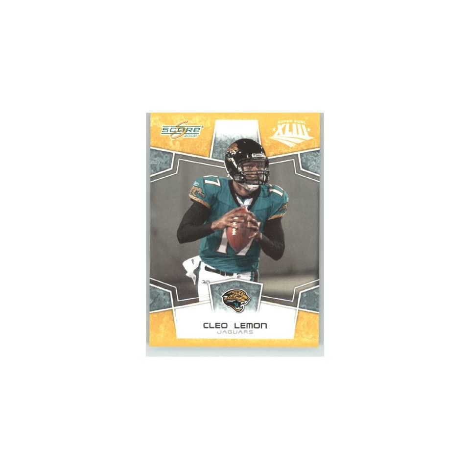 2008 Donruss / Score Limited Edition Super Bowl XLIII Gold Border