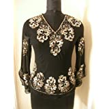 Haas Fashion Purely Hand Knotted Sequins and Beads Work Ladies Blouse Tunic Top Kurta Kurti