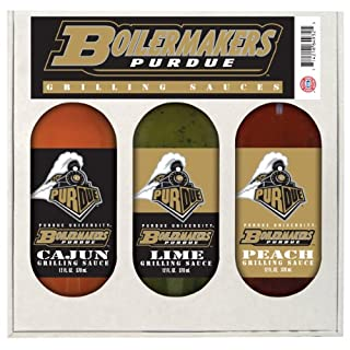 PURDUE Boilermakers Grilling Gift Set 3-12 oz