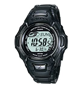 Casio Men's Solar Atomic All Black IP Stainless Steel G Shock Watch #MTG910DA-1V