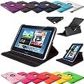 360 � Note 10.1 Design Standtasche Samsung Galaxy N8000 N8010 N8020 H�lle Schutz Etui Tasche Case Cover (Schwarz)