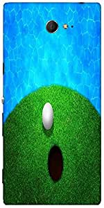 Snoogg Ball Near Water Golf Background Designer Protective Back Case Cover Fo...