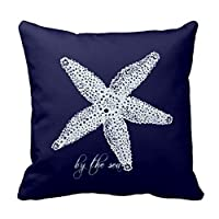 Starfish Square Throw Pillow Case Cushion Cover Fashion Home Decorative Pillowcase Cotton Polyester Pillow Cover(45cm x 45cm, Two Sides) by MagicPillow by MagicPillow