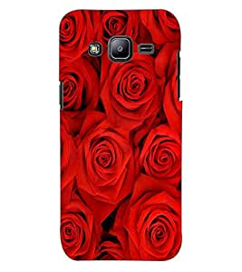 ColourCraft Beautiful Roses Design Back Case Cover for SAMSUNG GALAXY J2 DUOS