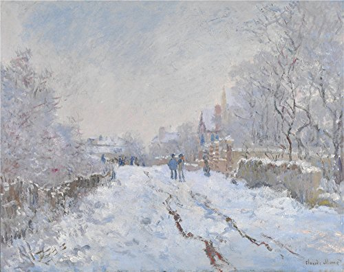 Oil Painting 'Claude Oscar Monet Snow Scene At Argenteuil ' Printing On High Quality Polyster Canvas , 18 X 23 Inch / 46 X 58 Cm ,the Best Gym Gallery Art And Home Artwork And Gifts Is This Cheap But High Quality Art Decorative Art Decorative Canvas Prints (Pencil Cases At Target compare prices)