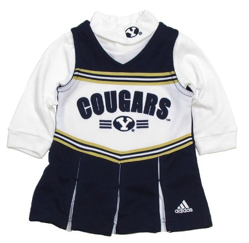 adidas BYU Cougars Infant/Toddler Cheerleader Dress & Turtleneck (2T) at Amazon.com