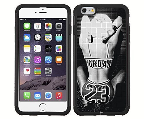 Black and White RUBBER Snap on Phone Case of Miley Cyrus Twerking (iPhone 6)