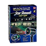 Home Accent Outdoor and Indoor Christmas Sparkling Star Shower Laser Light Projector - Weather Resistant