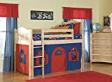 Bolton Furniture Cottage Boys Low Loft with Optional Tent Tower and Slide