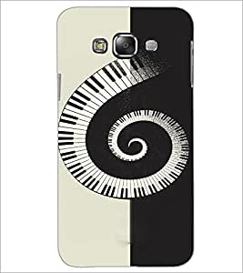 PrintDhaba Piano Pattern D-4466 Back Case Cover for SAMSUNG GALAXY E7 (Multi-Coloured)