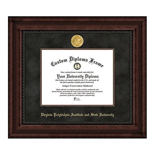 Virginia Tech University Executive Diploma Frame