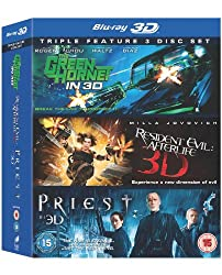The Green Hornet / Resident Evil: Afterlife / Priest (Blu-ray 3D)[Region Free]