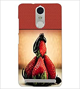 PrintDhaba Strawberries D-2827 Back Case Cover for LENOVO K5 NOTE (Multi-Coloured)