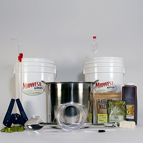 All Inclusive Platinum Pro Homebrew Beer Brewing Starter Kit with Front Porch Pale Ale Beer Recipe Kit and Brew Kettle (Kit Beer compare prices)