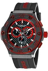 Stuhrling Prestige Men's 292P.335964 Prestige Swiss Made Harbinger Quartz Chronograph Date Red Watch