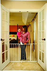 Regalo Easy Open Super Wide Walk Thru Gate - White by Regalo