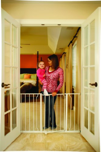 Regalo Easy Open 52 Inch Super Wide Walk Thru Gate - White