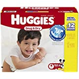 Huggies Snug and Dry Diapers Economy Plus Pack, Step 4, 192 Count