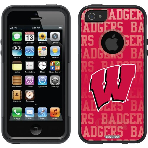 Great Sale University of Wisconsin Repeat design on a Black OtterBox® Commuter Series® Case for iPhone 5s / 5