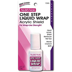 One Step Liquid Wrap - Reinforces Nail Tips, 0.25 oz,(Nutra Nail)