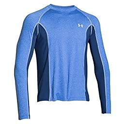 Under Armour Coolswitch Trail Shirt - Long-Sleeve - Men\'s Ultra Blue Heather/Glacier Gray, S