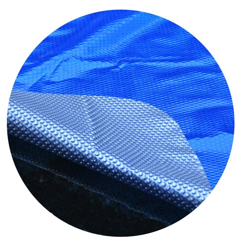 MidWest Canvas SC-BS-000005 Space Age 24-Feet Round Above Ground Solar Cover, Blue/Silver