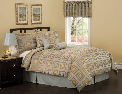 Dodge Block King Comforter Set with Bonus Pillows
