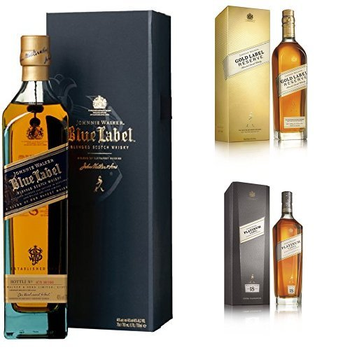 discount duty free Bundle: Johnnie Walker Gold, Platinum and Blue Label Blended Scotch Whisky 70cl