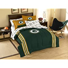 Green Bay Packers 7 Pc FULL Size Bed in a Bag (Comforter, 1 Flat Sheet, 1 Fitted... by Northwest