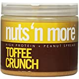 Nuts N More Peanut Butter Crunch, Toffee, 16 Ounce