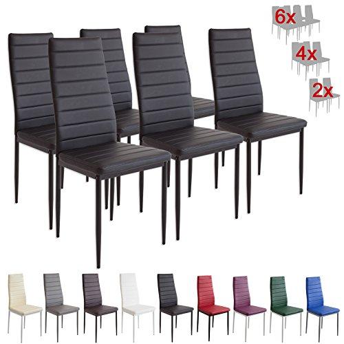 Albatros 2698 MILANO - Set di 6 sedie da pranzo, nero