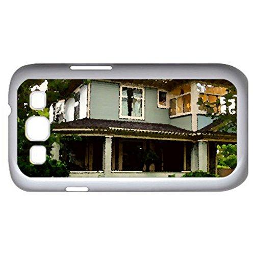 Canada Nova Scotia Vulvill (Houses Series) Watercolor Style - Case Cover For Samsung Galaxy S3 I9300 (White)