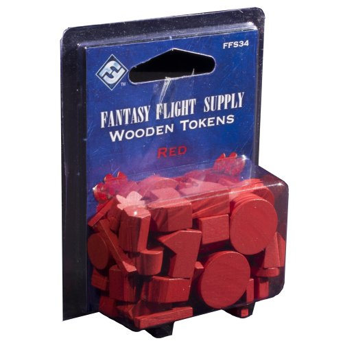 Fantasy Flight Supply: Wood Tokens: Red