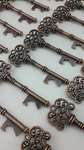 25pcs Bottle Openers Copper Wedding Favors Rustic Decoration