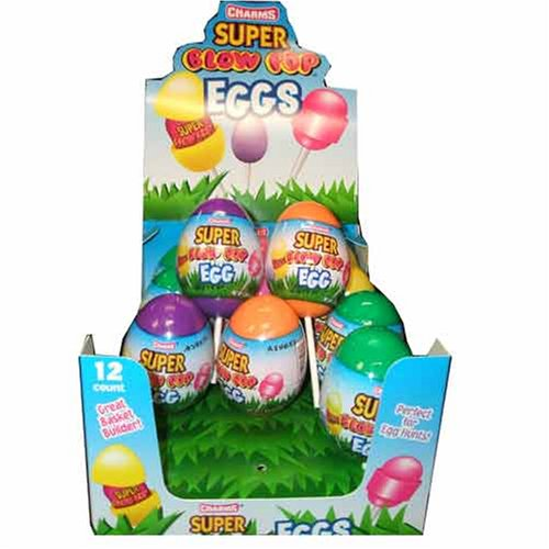 Charms Super Blow Pop Eggs, (12 Super Blow Pops Enclosed in a Plastic Easter Egg) (Gourmet,Charms,Gourmet Food,Candy,Suckers & Lollipops)