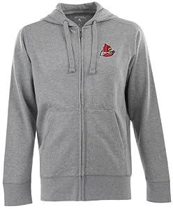 Louisville Signature Full Zip Hooded Sweatshirt (Grey) by Antigua
