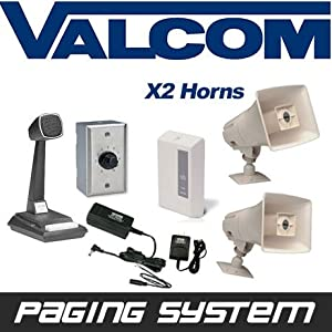 Amazon Com Valcom 2 Horn Speaker Paging Pa System Kit