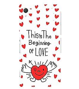 EPICCASE beginning of love Mobile Back Case Cover For Sony Xperia T2 (Designer Case)